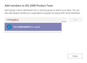 Microsoft Teams Gasttoegang