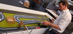 opbouw racebaan