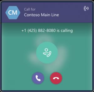 Teams call