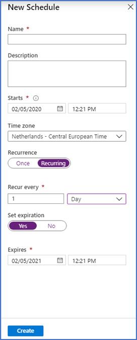 Automation schedule
