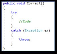 Meest voorkomende C# programmeerfouten: Explicitly throwing the exceptions correct