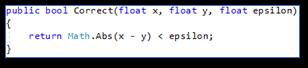 Programmeerfouten: Floating-point compare resultaat