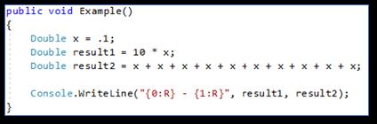 Programmeerfouten Floating-point compare werkelijke waarde