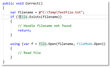Meest voorkomende C# programmeerfouten: Unhandled Exogenous Exceptions verbetering