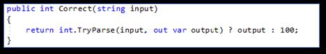 Meest voorkomende C# programmeerfouten: Voorkomen Tryparse with default