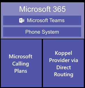 Bellen met Teams Phone System